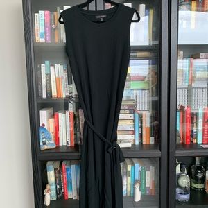 XL Banana Republic Rayon and Spandex Black Dress